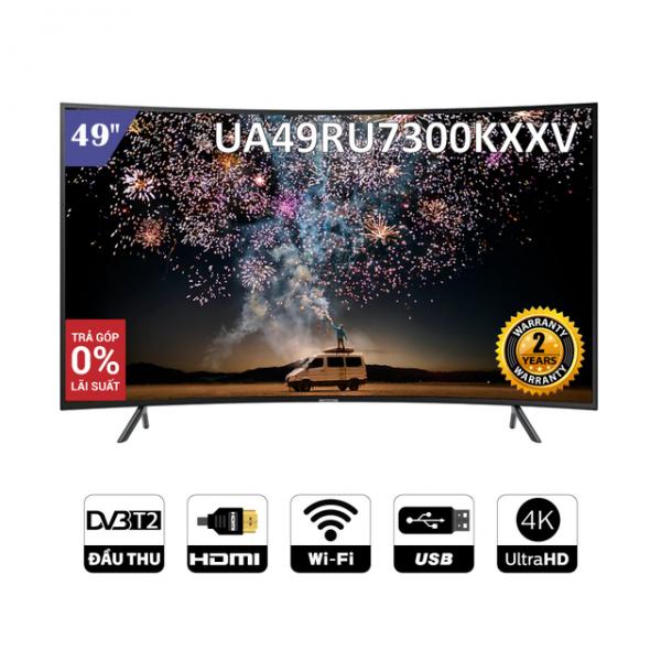 [Nhập SAMS14TR Giảm 1.4TR] Smart Tivi Samsung 4K UHD 49 inch UA49RU7300KXXV - Chính Hãng Phân Phối