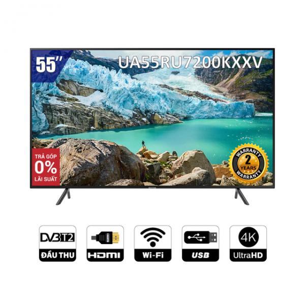 [Nhập SAMS1TR Giảm 1TR] Smart Tivi Samsung 4K 55 inch UA55RU7200KXXV